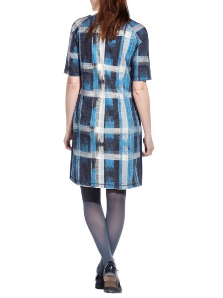 Sandwich Check print jersey dress
