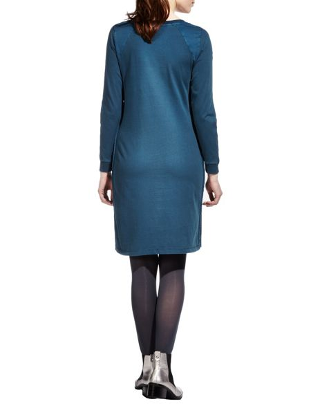 Sandwich Pigment dye long sleeve dress