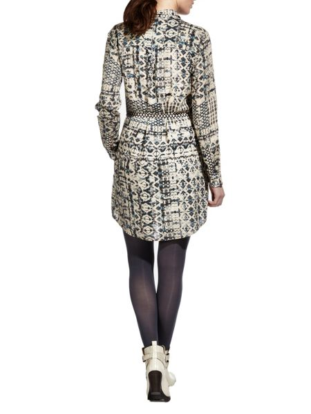 Sandwich Printed shirt dress
