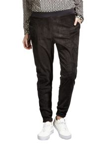 Sandwich Suede trousers