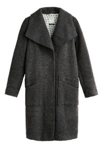 Sandwich Long wool blend coat