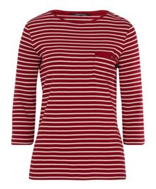 Olsen 3/4 sleeves stripe T-shirt