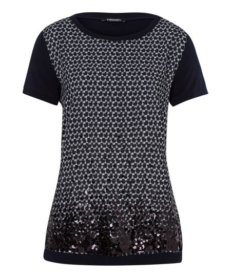 Olsen Sequin embellished top