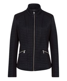 Olsen Delicate pattern quilted jacket