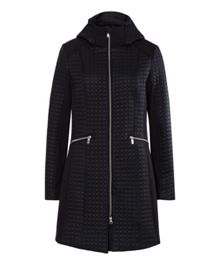 Olsen Delicate pattern quilted coat