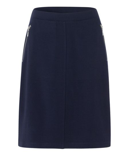 Olsen Zip detail skirt