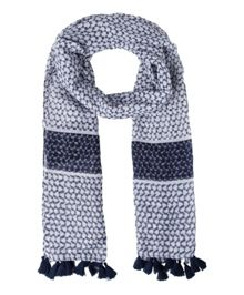Olsen Printed scarf with tassels