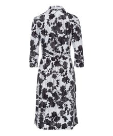 Olsen Shadow Flower Print dress