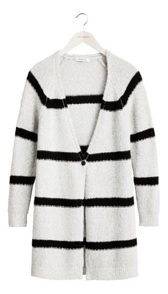 Sandwich Long stripe cardigan