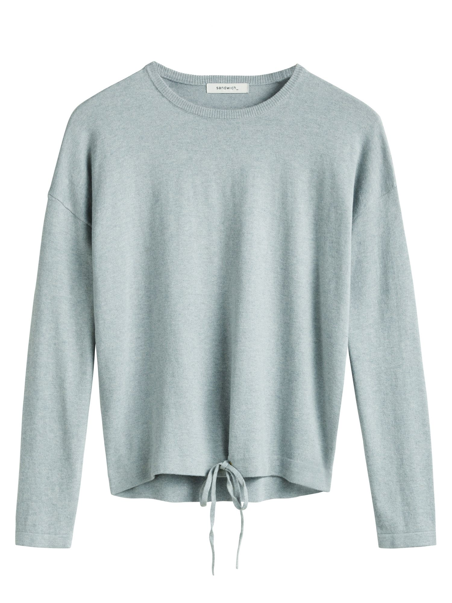 Sandwich Sandwich Drawstring detail jumper, Grey
