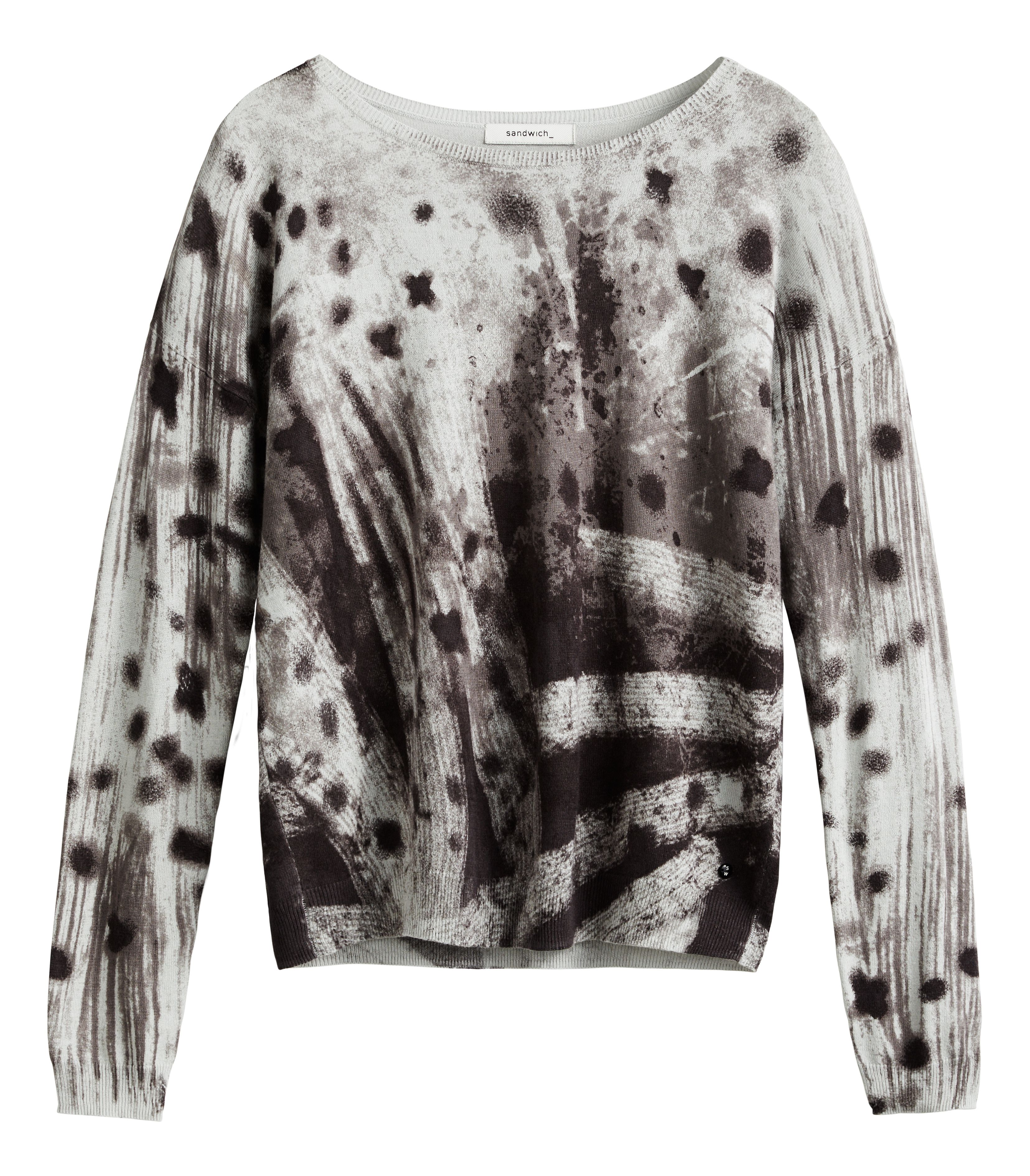 Sandwich Sandwich Abstract print jumper, Grey