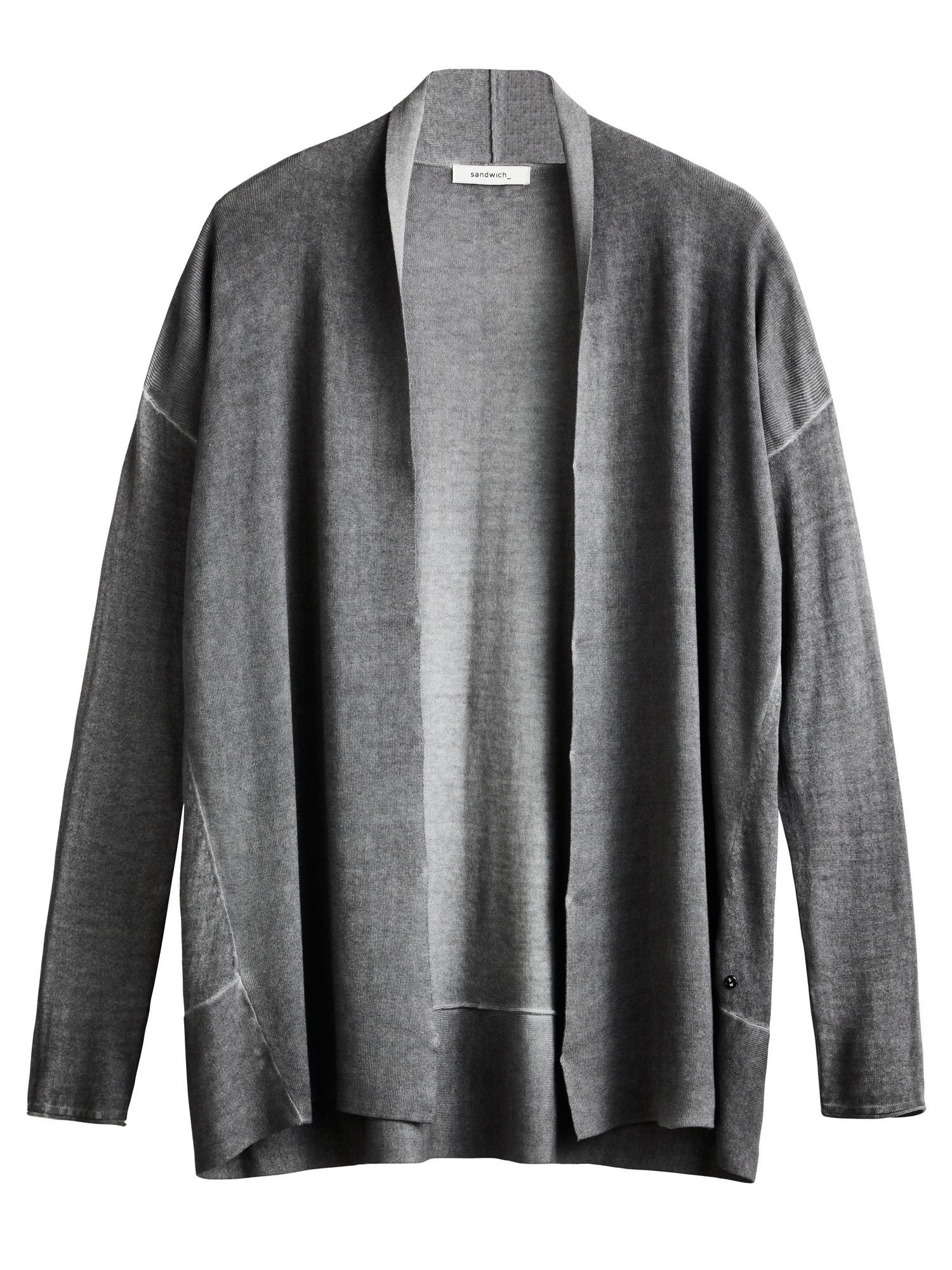 Sandwich Sandwich Edge to edge cardigan, Grey