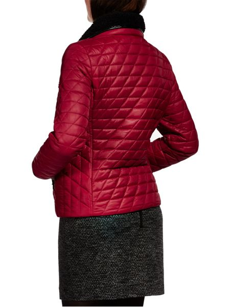 Sandwich Padded jacket with faux fur collar