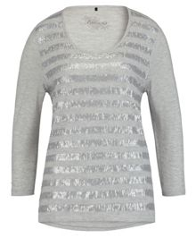 Olsen Sequin 3/4 sleeves top