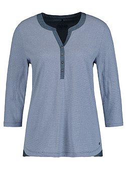 3/4 sleeves Henley top