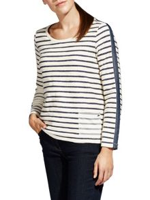 Sandwich Textured stripe top