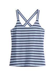 Sandwich Stripe cross back vest