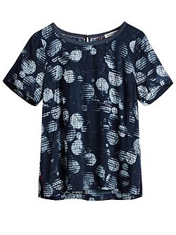Printed woven top