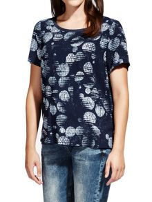 Sandwich Printed woven top