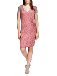 Sandwich Crinkled Printed dress