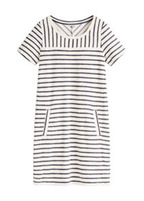 Sandwich Textured stripe dress