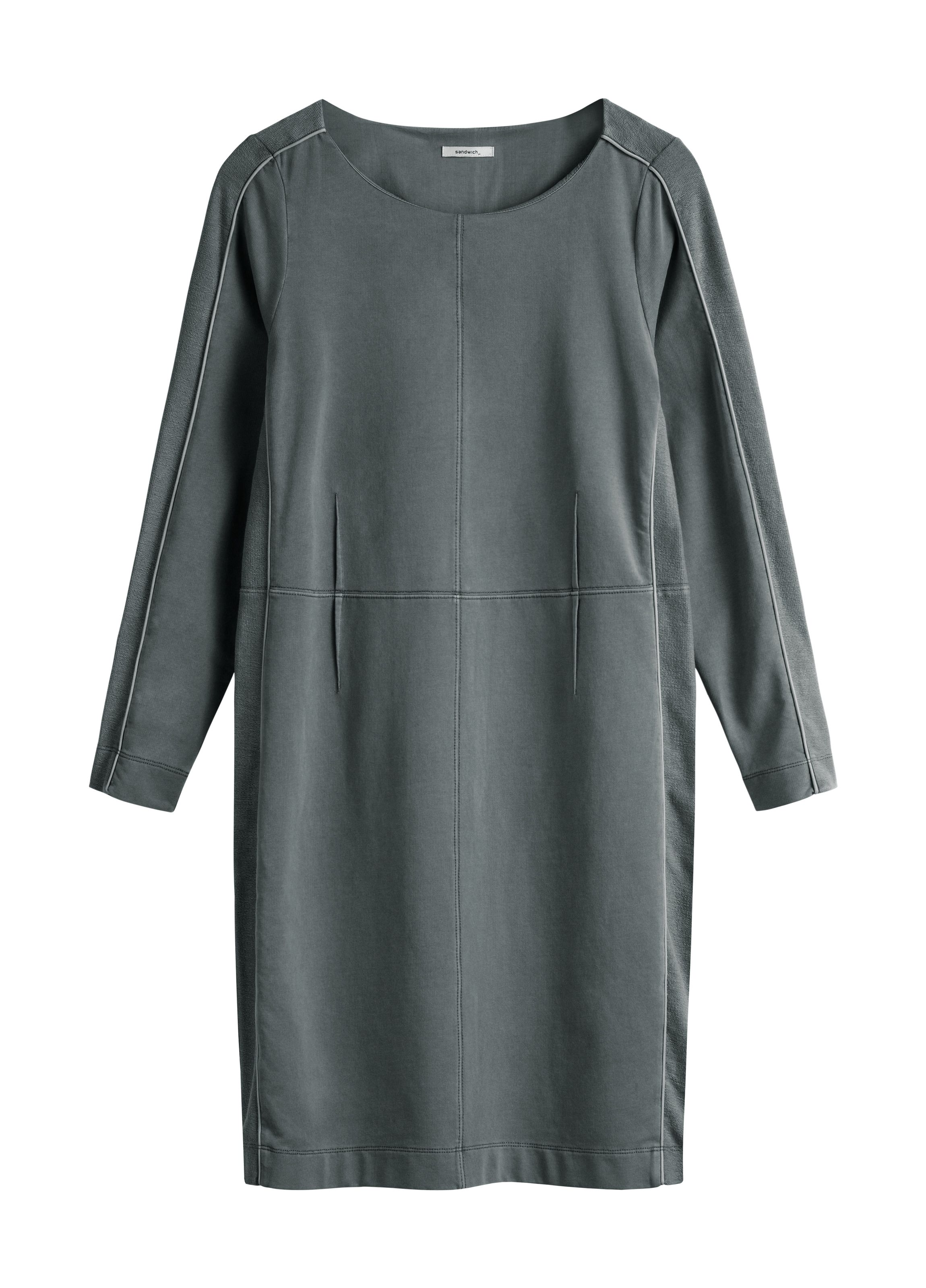 Sandwich Vintage look cotton dress, Grey