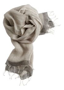 Sandwich Linen feel scarf