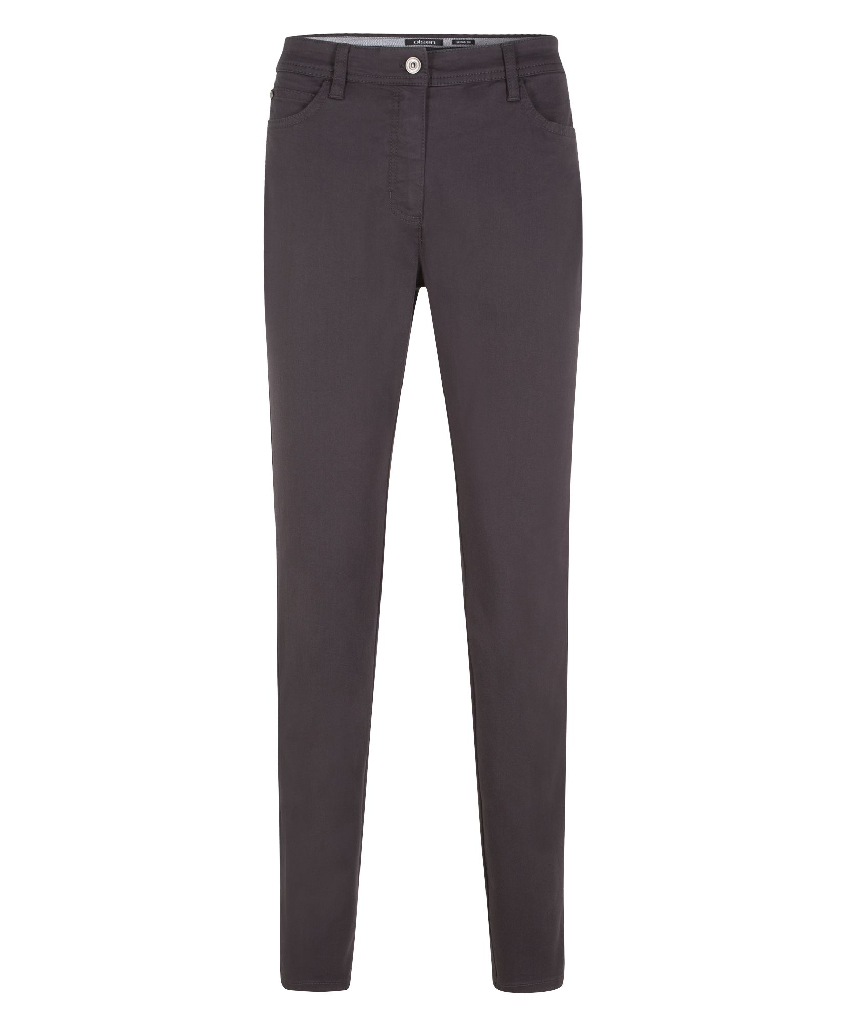 Olsen Power Stretch Trousers Mona Slim, Black