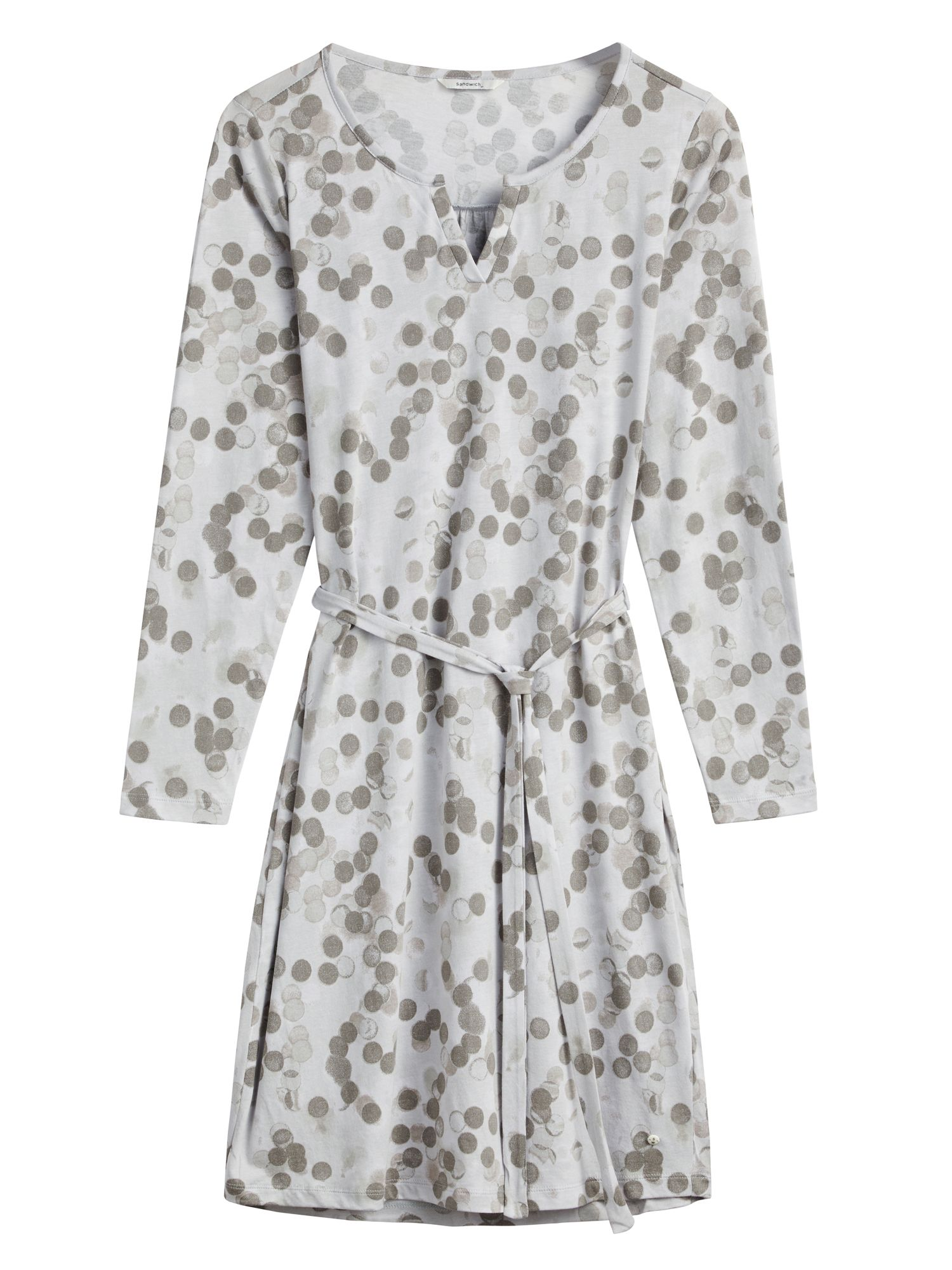 Sandwich Blurred spot print dress, Grey