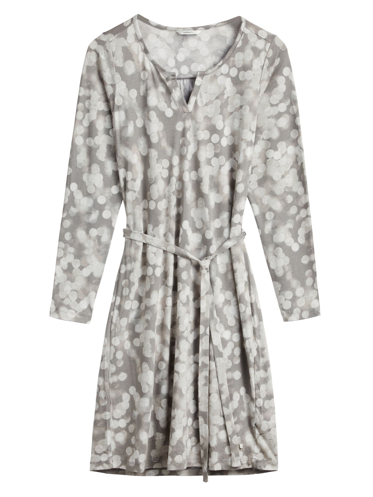 Sandwich Blurred spot print dress, Steel