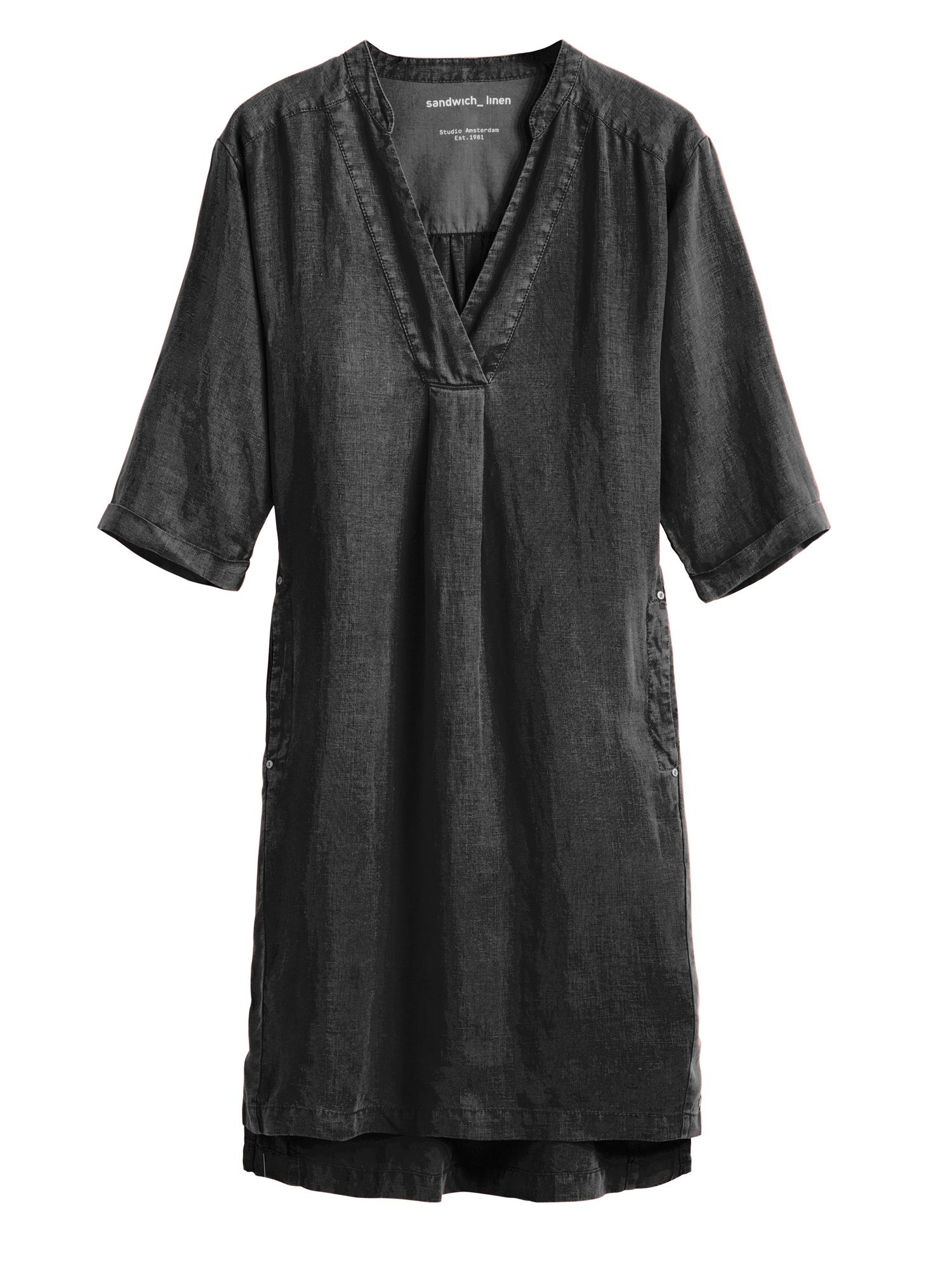 Sandwich Pure linen dress, Black