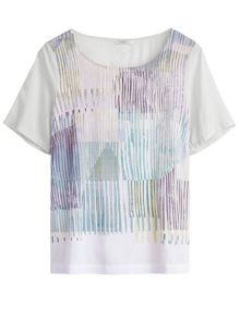 Sandwich Painted stripe print top