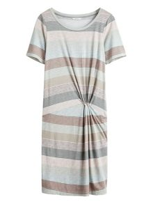 Sandwich Multicoloured stripe dress