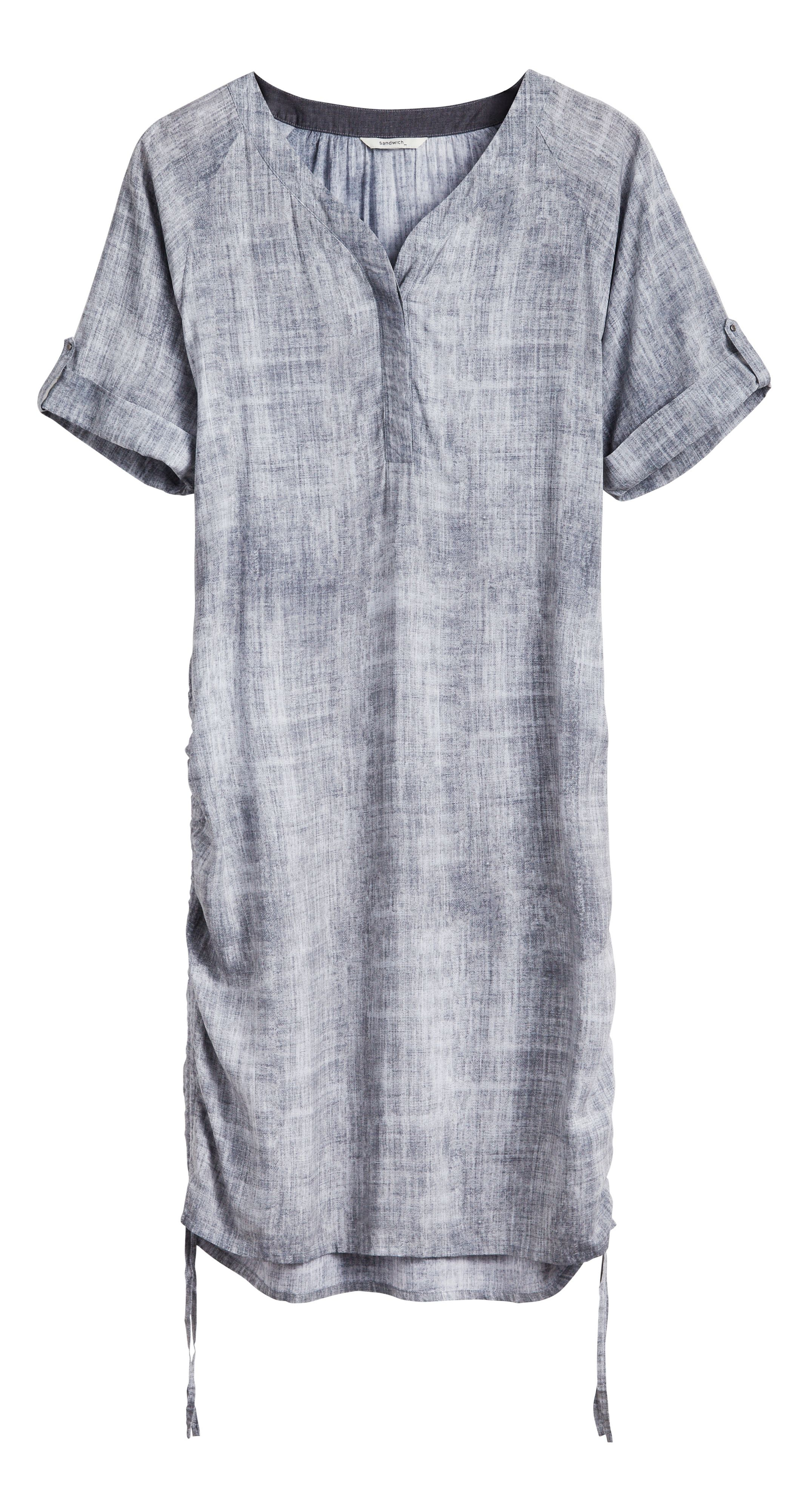 Sandwich Texture print dress, Grey