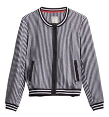 Sandwich Bomber stripe jacket