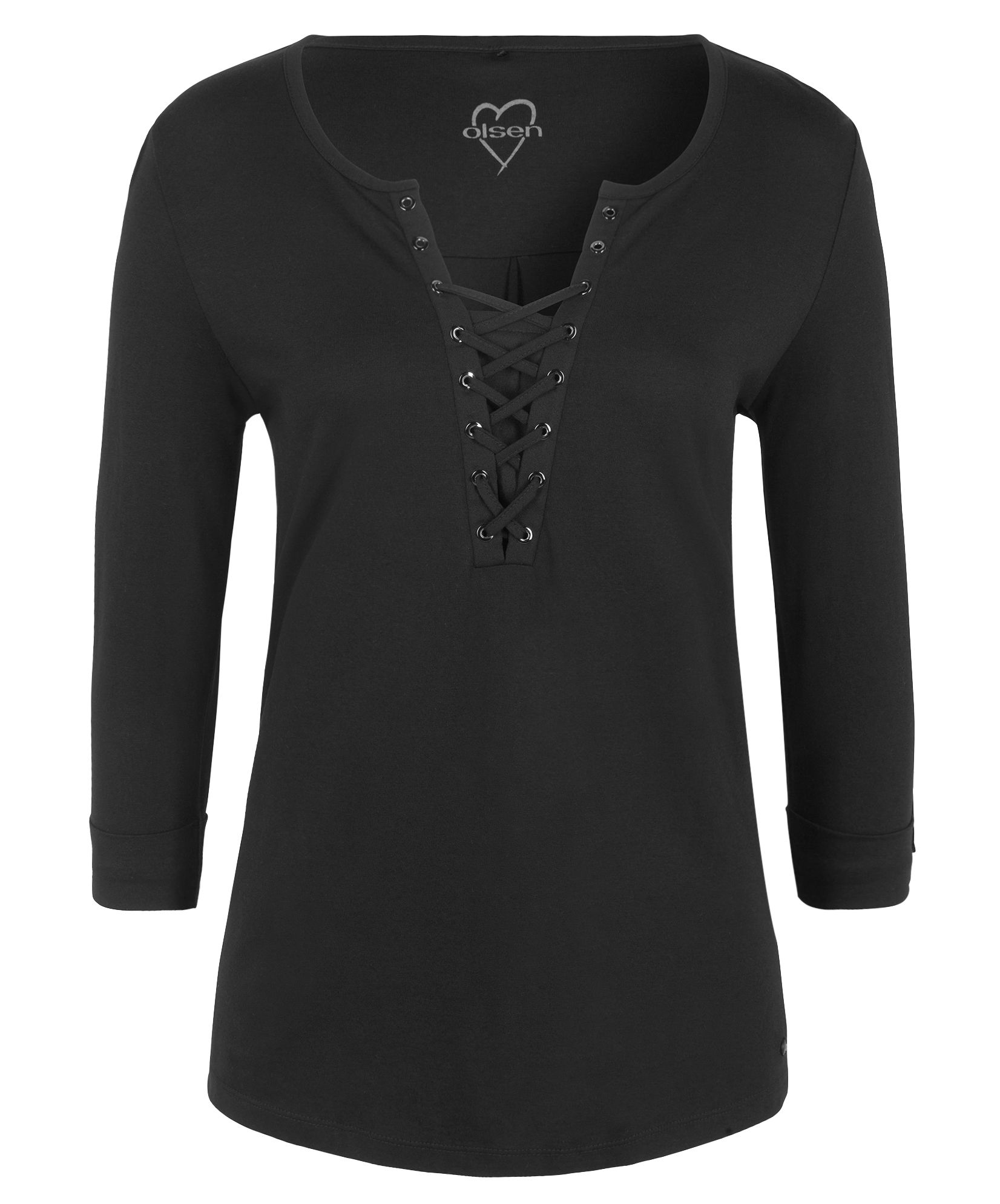 Olsen Lace-up top, Black