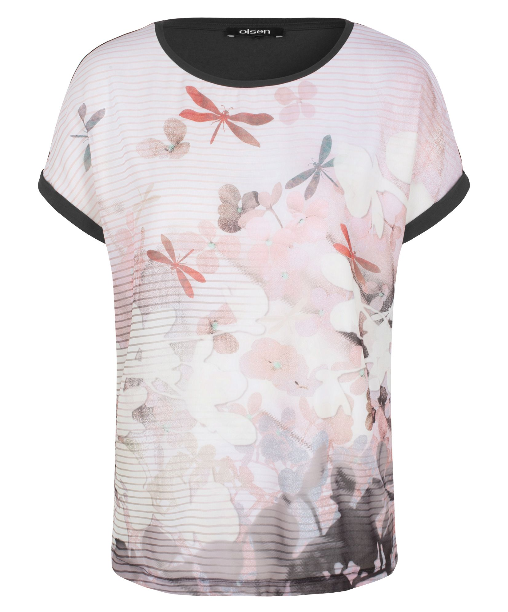 Olsen Dragonfly print top, Pink