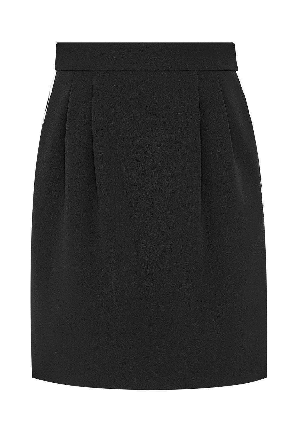 Hallhuber Bell Skirt With Track Stripes, Black