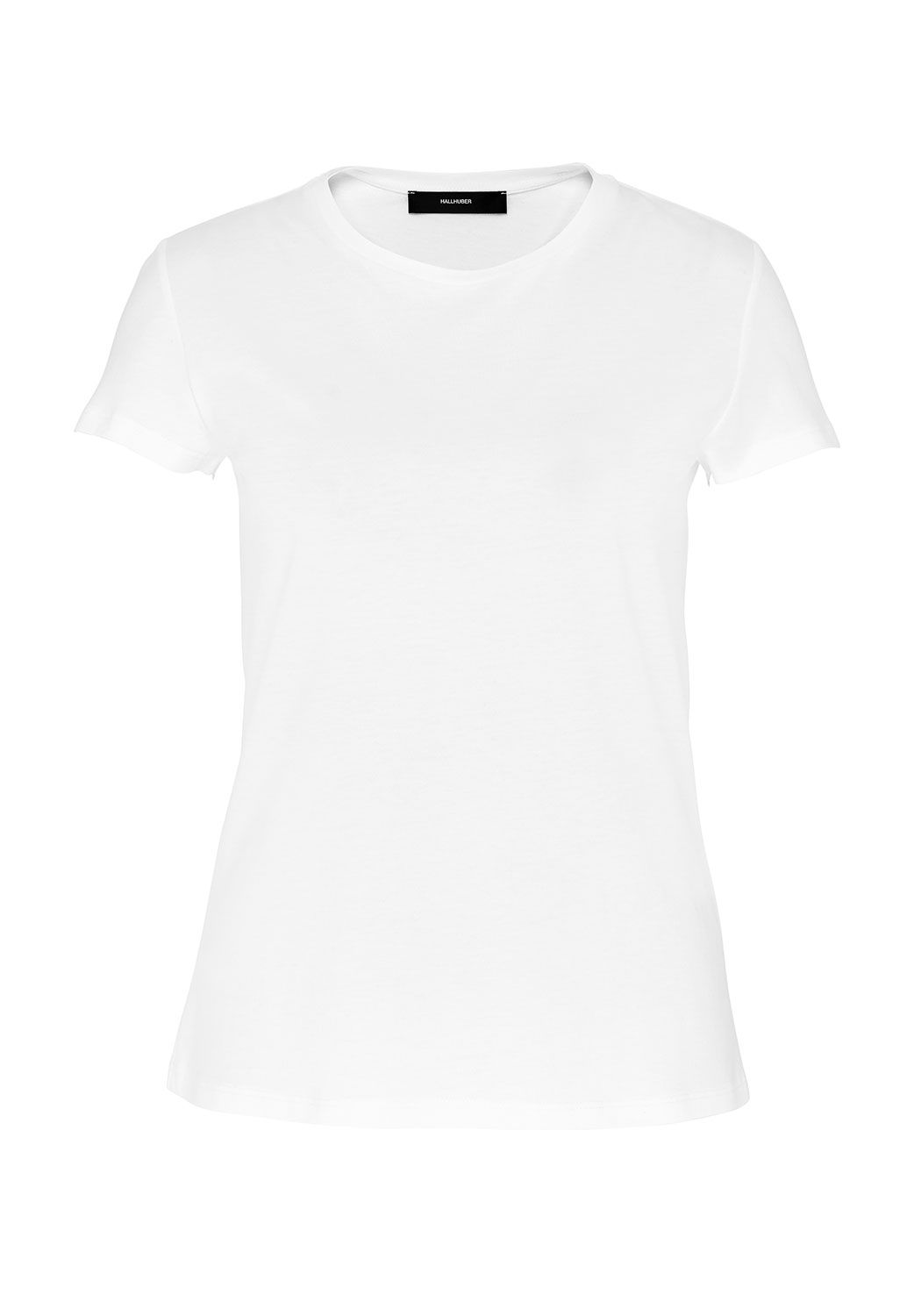 Hallhuber Basic Round Neckline Top, White