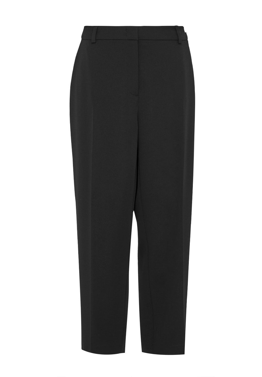 Hallhuber 78 Trousers With Centre Crease, Black