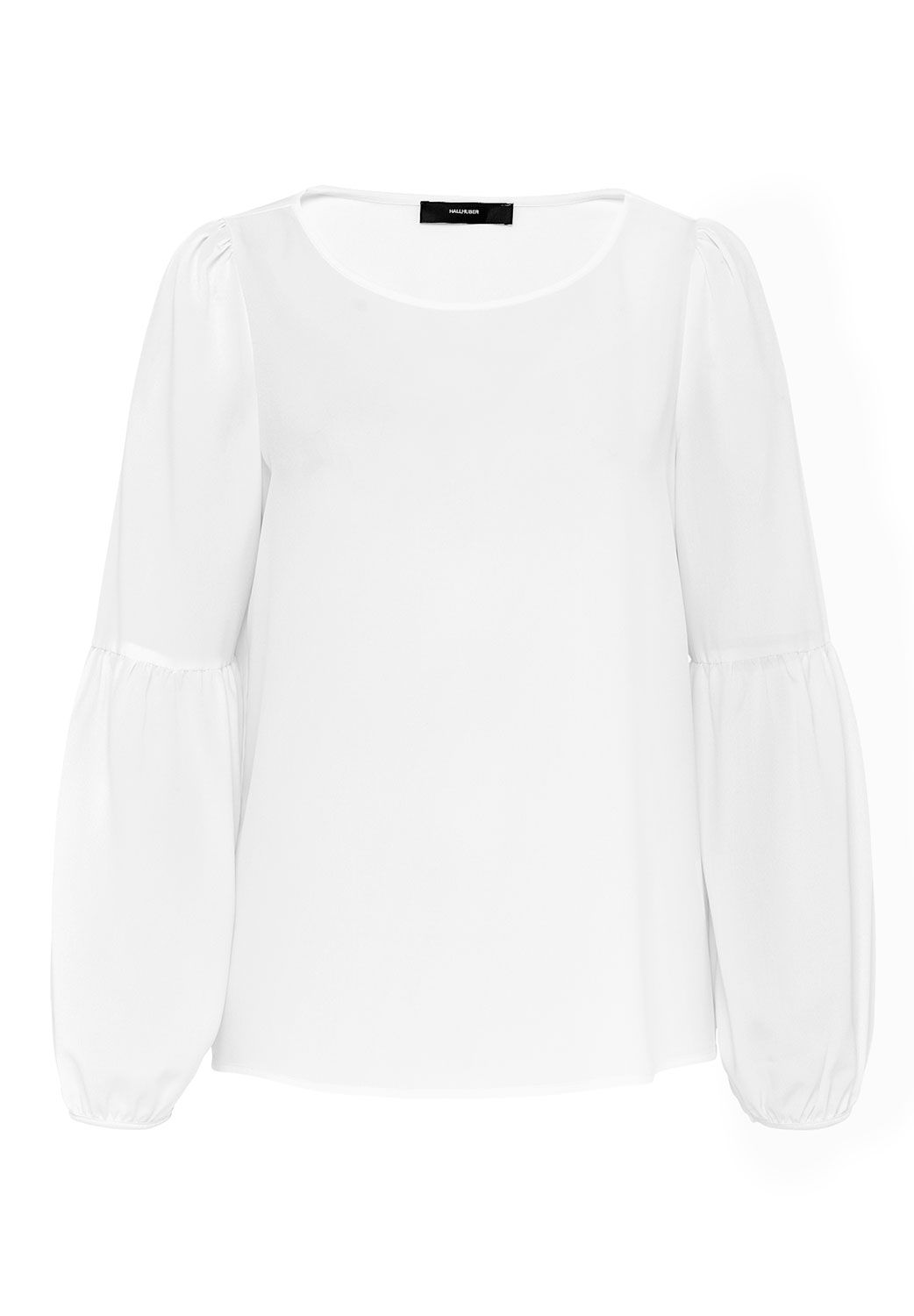 Hallhuber Blouse With Bell Sleeves, Off White