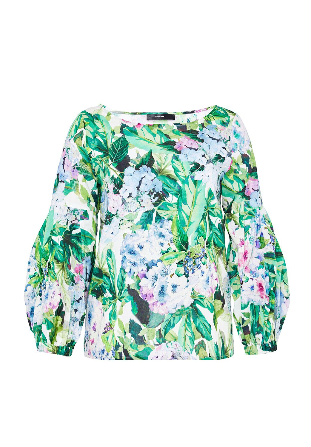Hallhuber Blouse With Hydrangea Print, Multi-Coloured