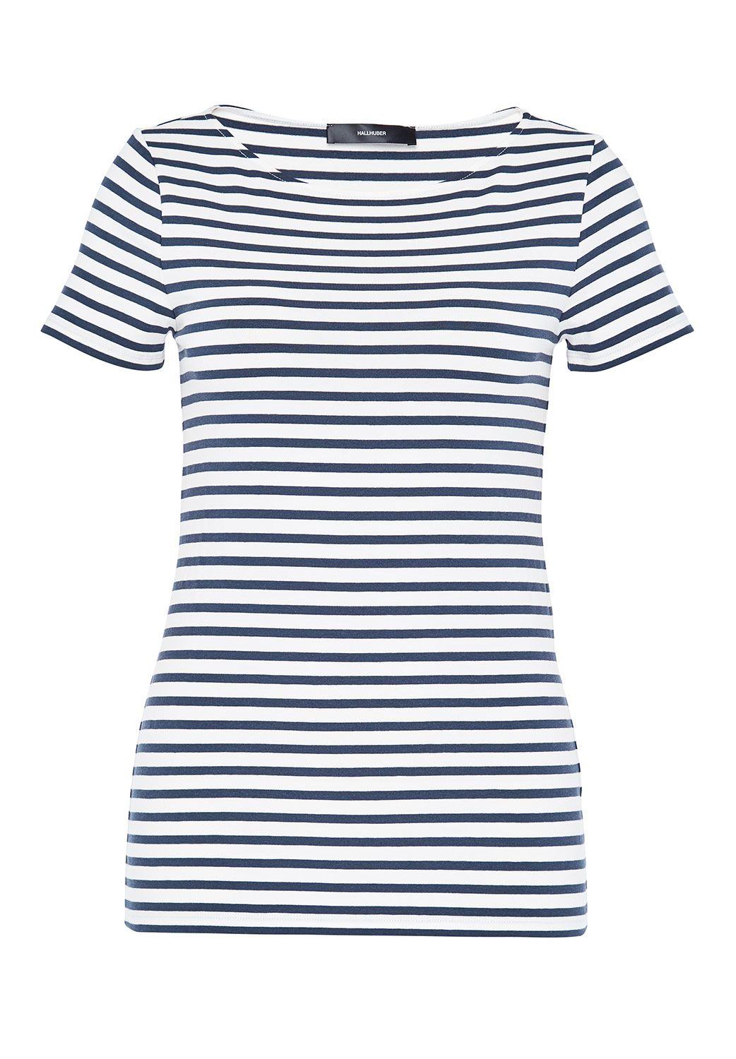 Hallhuber Basic Stripe Top, Indigo