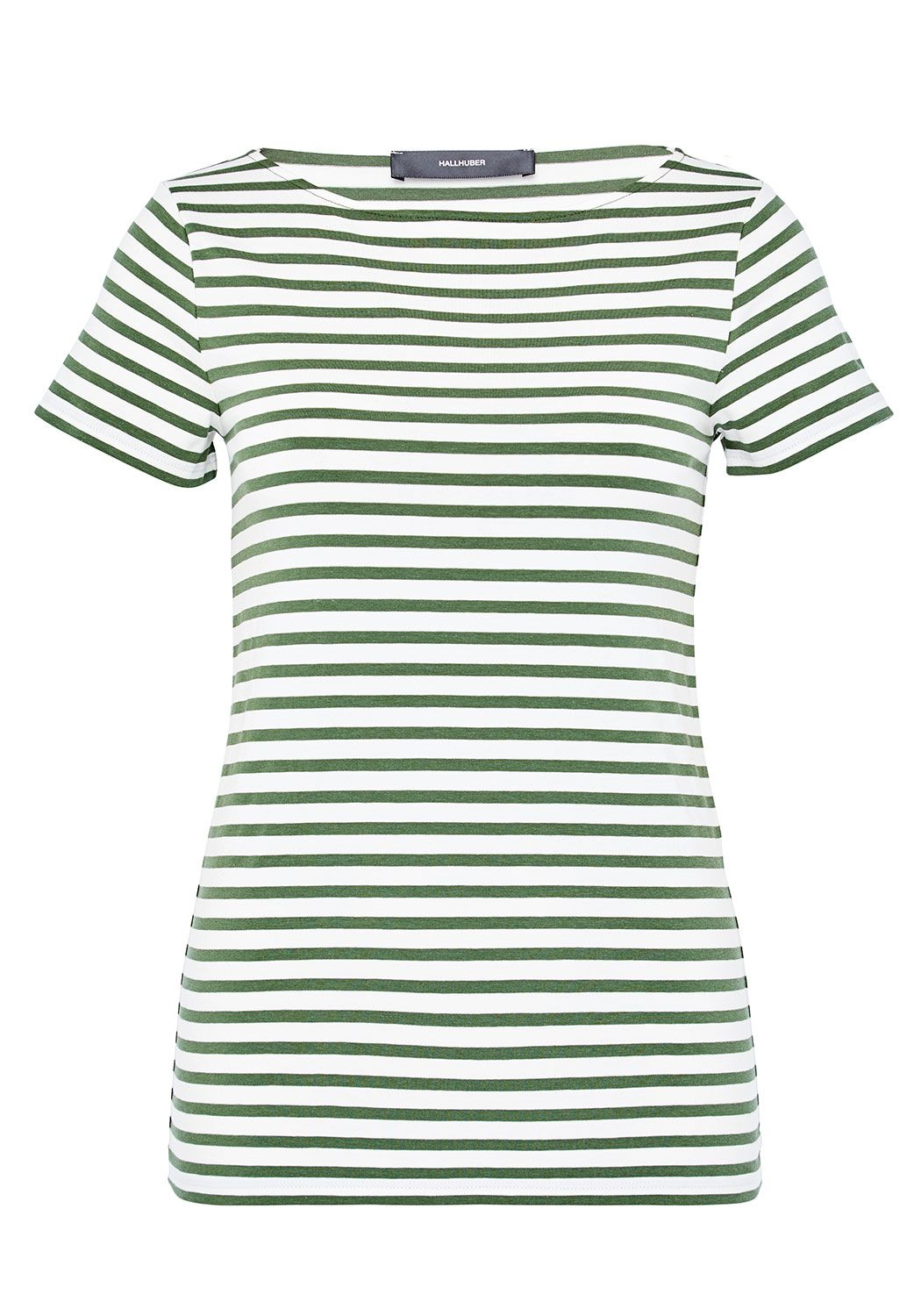 Hallhuber Basic Stripe Top, Green