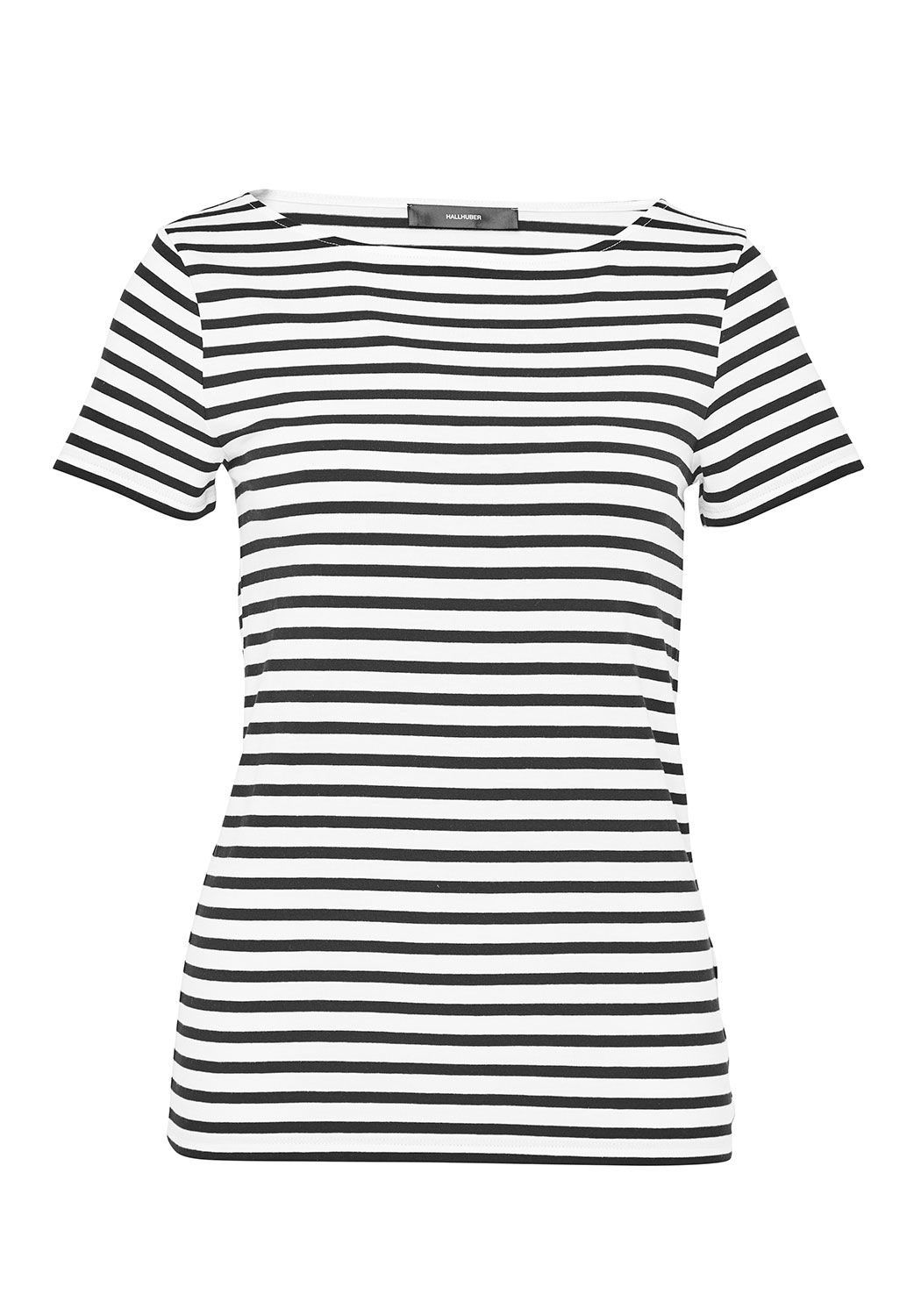 Hallhuber Basic Stripe Top, Black