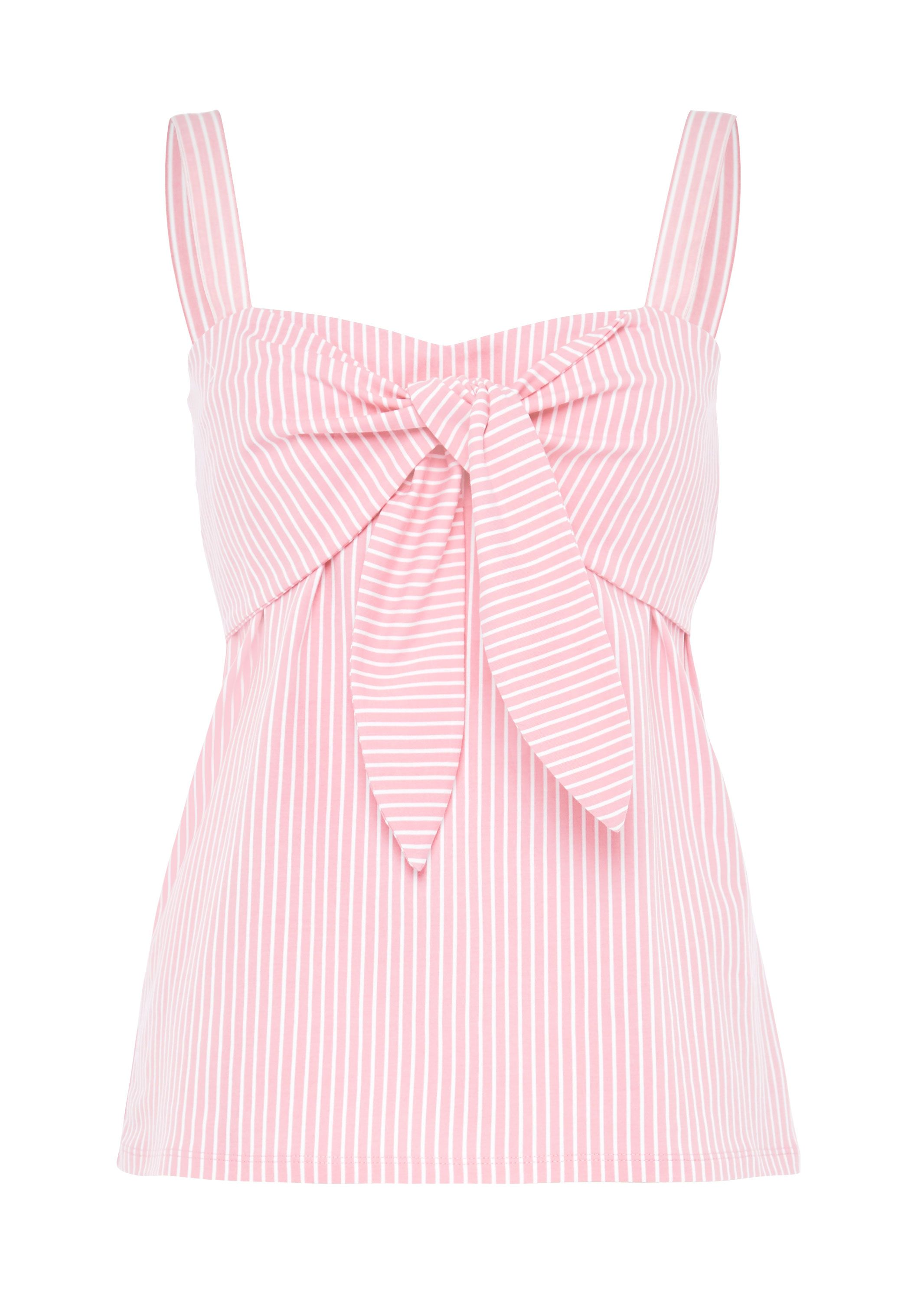 Hallhuber Bustier Top With Knot, Pink