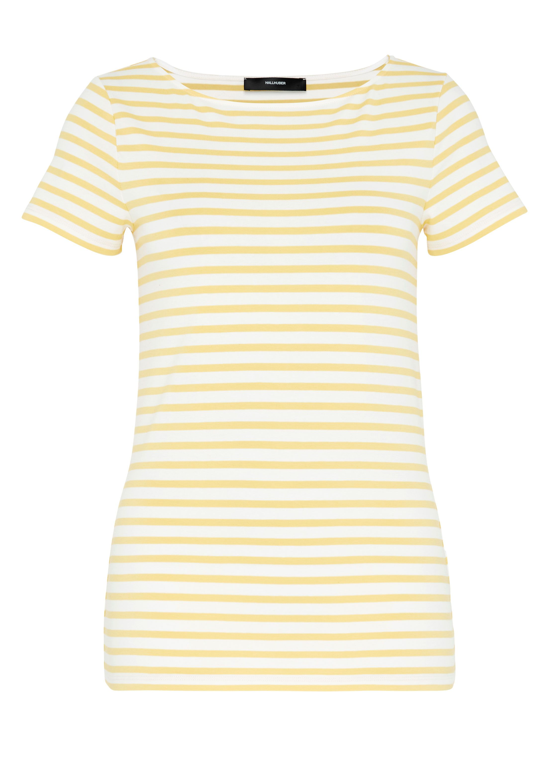 Hallhuber Basic Stripe Top, Yellow
