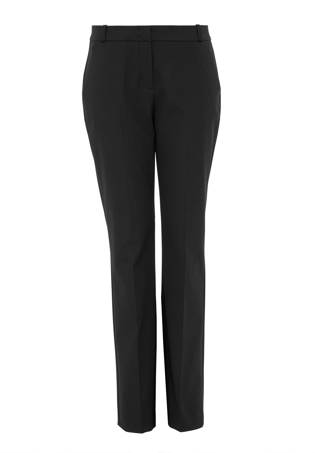 Hallhuber Centre Crease Business Trousers, Black