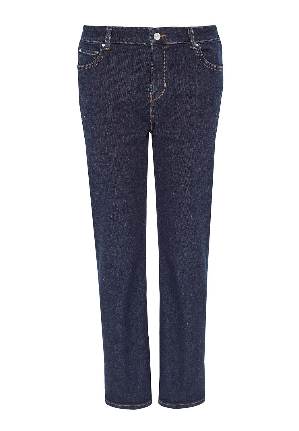 Hallhuber Boyfriend Jeans Made Of Candiani Denim, Blue