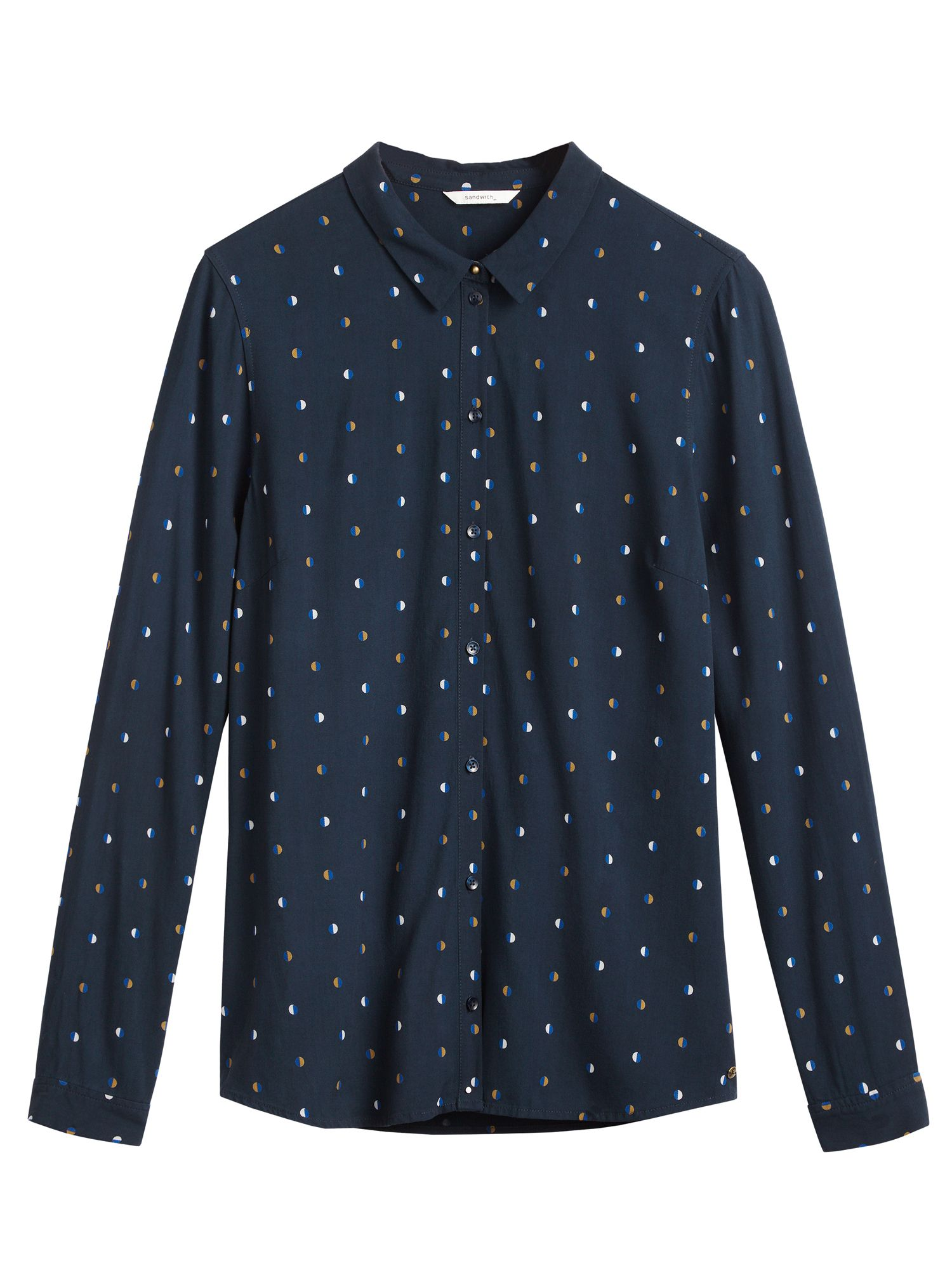 Sandwich Spot print shirt, Blue